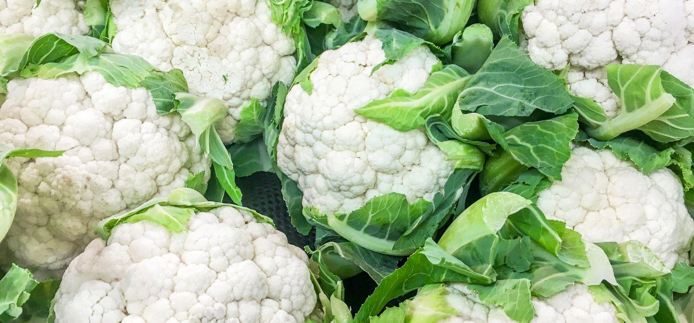 multiple fresh cauliflowers