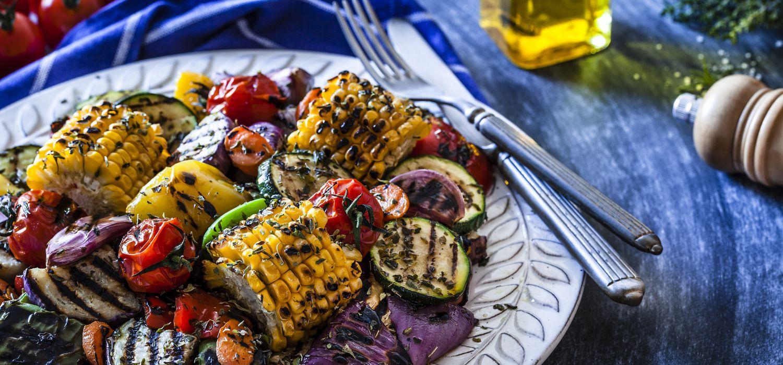bbq cooked veggies