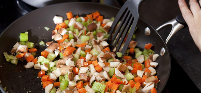 stir fry on non stick wok