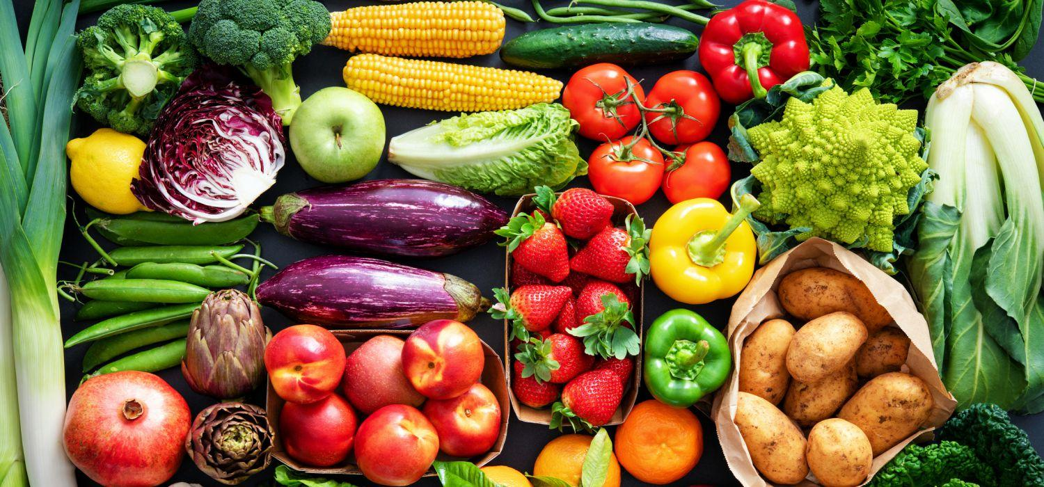 table full of colorful vegetables