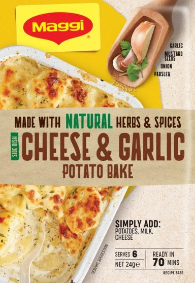 Cheese & Garlic Potato Bake