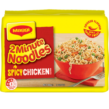 MAGGI 2 Minute Noodles Spicy Chicken Flavour - Front of Pack