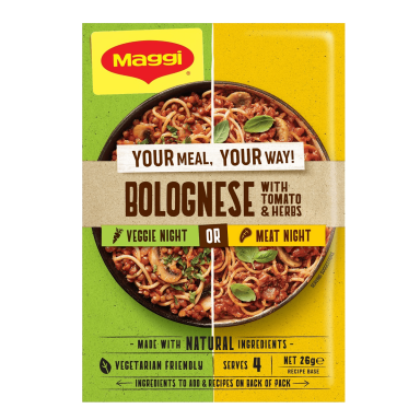 Maggi Bolognese with Tomato and Herbs - Front of Pack