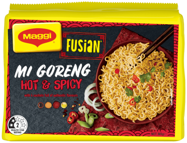 MAGGI FUSIAN Noodles Mi Goreng Hot & Spicy Flavour - Front of Pack