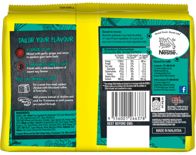 MAGGI FUSIAN Soupy Noodles Japanese Teriyaki Flavour - Back of Pack
