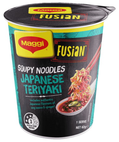 MAGGI FUSIAN Soupy Noodles Japanese Teriyaki Flavour Cup - Front of Pack