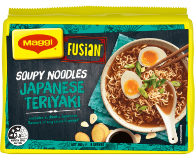 MAGGI FUSIAN Soupy Noodles Japanese Teriyaki Flavour - Front of Pack