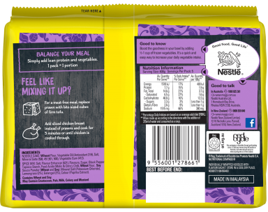 MAGGI FUSIAN Soupy Noodles Thai Tom Yum Flavour - Back of Pack
