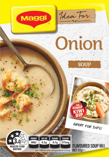 MAGGI Onion Flavoured Soup Mix - Front of Pack