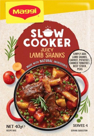 MAGGI Slow Cooker Juicy Lamb Shanks Recipe Base - Front of Pack